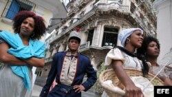 Foto de archivo de actores cubanos.