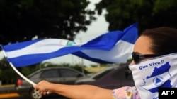 Manifestantes protestan contra Daniel Ortega en Nicaragua.