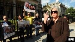 Judy Gross, esposa del estadounidense Alan Gross, preso en Cuba.