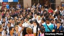 Berta Soler: Usaron niños en acto de repudio