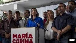"""""""No nos van a doblegar y no nos van a callar"""": María Corina Machado"""