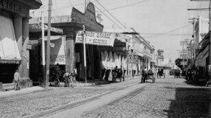 Calle Galiano, La Habana, hacia 1900.