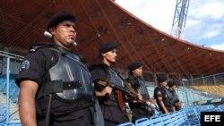 Fotografía de archivo de miembros de las unidades especiales de la Policía Nacional nicaragüense.