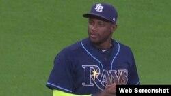Adeiny Hechavarría, torpedero de los Rays de Tampa.