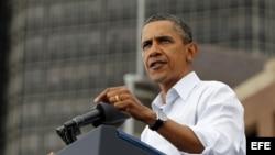 Archivo - El presidente estadounidense Barack Obama en el acto del Día del Trabajo, en en centro Renaissance de Detroit, Estados Unidos.