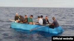 Balseros cubanos interceptados por la Guardia Costera. Foto Guardia Costera