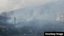Gases sobre Caracas, Venezuela