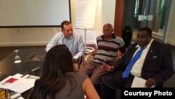 Entrevista a activistas cubanos de visita en Madrid.
