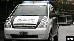 Vehículo de la policía Argentina. Archivo.