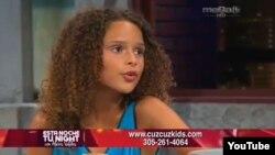 América Valdés en el programa de su padre en Mega Tv.