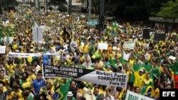 Manifestación contra la presidenta brasileña Dilma Rousseff (15 de marzo, 2015).