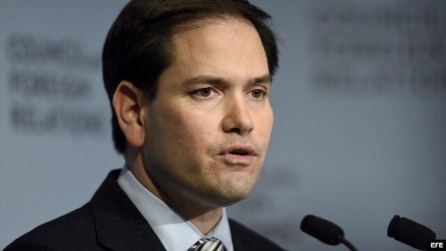 El aspirante presidencial republicano Marco Rubio. Archivo.