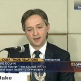Jake Colvin, Consejo Nacional de Comercio Exterior.