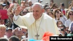El papa Francisco llegará a Cuba el sábado, 19 de septiembre de 2015.