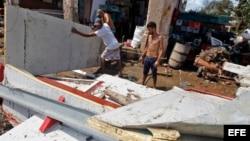 Graves daños tras el paso del huracán Irma por Cuba.