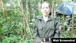 Nathalie Mistral, es originaria de Montpellier y pertenece al Frente 57 de las FARC. (Foto: Lise Josefsen Hermann/RFI)