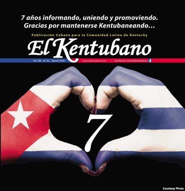 Revista El Kentubano, que dirige el exiliado cubano Luis David Fuentes en Kentucky.