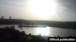 Barco encallado en la Bahía de Cienfuegos