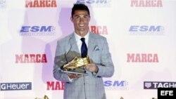Ronaldo recibe su cuarta Bota de Oro.