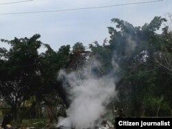 Incendio en Boyeros, La Habana. Foto: Steve M. Pardo.