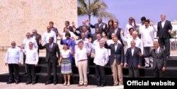 Foto de familia de la 6ta Cumbre de las Américas en Cartagena 2012 ¿Estará Raúl Castro en la de Panamá 2015?