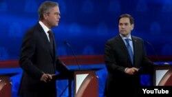 Debate republicano Jeb Bush y Marco Rubio octubre 2015