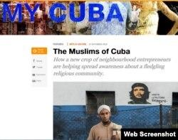 Encabezado del reportaje de la serie My Cuba sobre los musulmanes en la isla. (Captura de imagen/Al Jazeera)