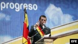 Fotografía de archivo del candidato presidencial opositor, Henrique Capriles. EFE/David Fernández