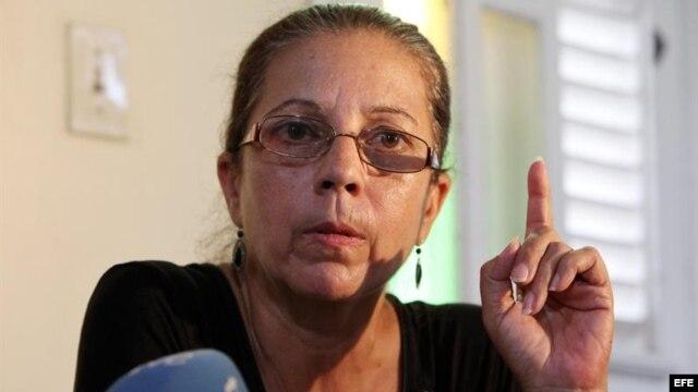 Foto de archivo: Ofelia Acevedo, durante una rueda de prensa en La Habana, Cuba