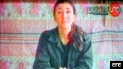 Imagen de un video de Ingrid Betancourt divulgado por las FARC mientras la mantenían secuestrada. Archivo.
