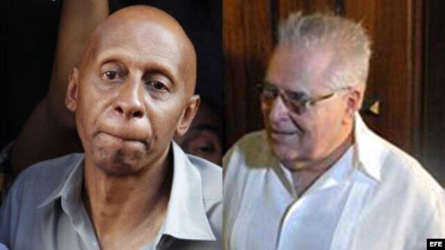 De izq. a der. Guillermo Fariñas y Elizardo Sánchez Santa Cruz