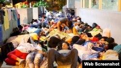 Cubanos en Centroamérica. Foto: Screenshot/ticotimes.com.
