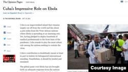 Editorial del diario The New York Times.