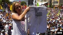 Lilian Tintori, esposa del líder opositor Leopoldo López quien se encuentra preso