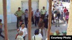 Oficiales de la Policía Nacional Revolucionaria (PNR) y otras fuerzas del Ministerio del Interior (MININT).