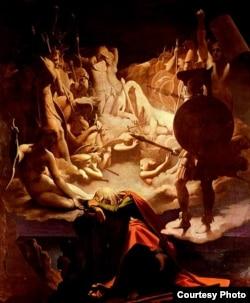 """""""El sueño de Osián"""", por Jean Auguste Dominique Ingres (1813)"""