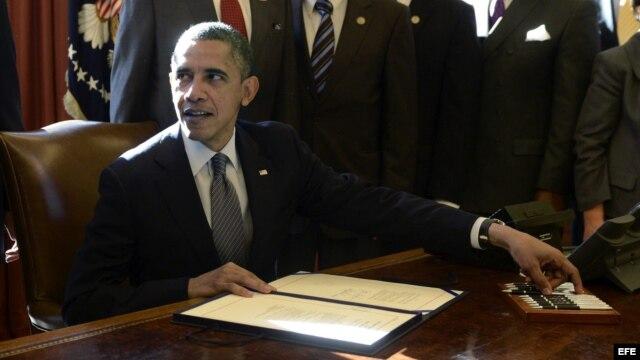 Footografía de archivo del presidente de Estados Unidos, Barack Obama.