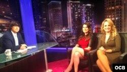 Karen Caballero y Vanessa Ruiz en el programa de Bayly