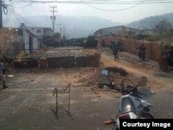 Barricadas en Barrio Sucre