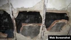 El techo quedó destruido. (Foto: Cubanet)