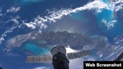 Cuba desde el espacio.