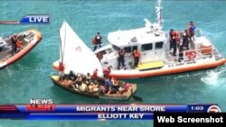 Guardia costera intercepta embarcación a dos m illas de las costas de Miami.