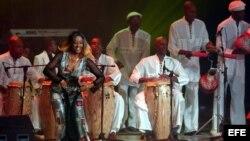 El grupo folclórico Los muñequitos de Matanzas.
