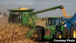 Cosecha de maíz en Indiana