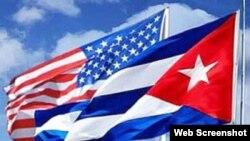 Banderas Cuba-EEUU.