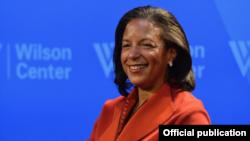 La principal asesora de seguridad nacional de Obama, Susan Rice en el Wilson Center.