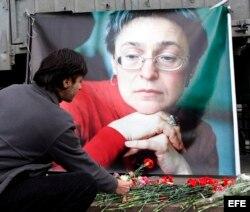 Periodista rusa Anna Politkovskaya.