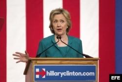 Acto de campaña de Hillary Clinton en Miami.