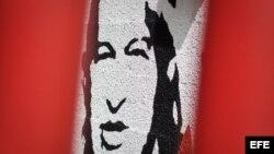 Imagen de Chávez en un muro de Caracas