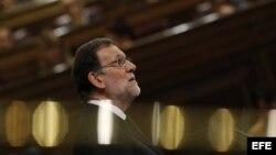- El líder del PP y presidente del Gobierno Mariano Rajoy.